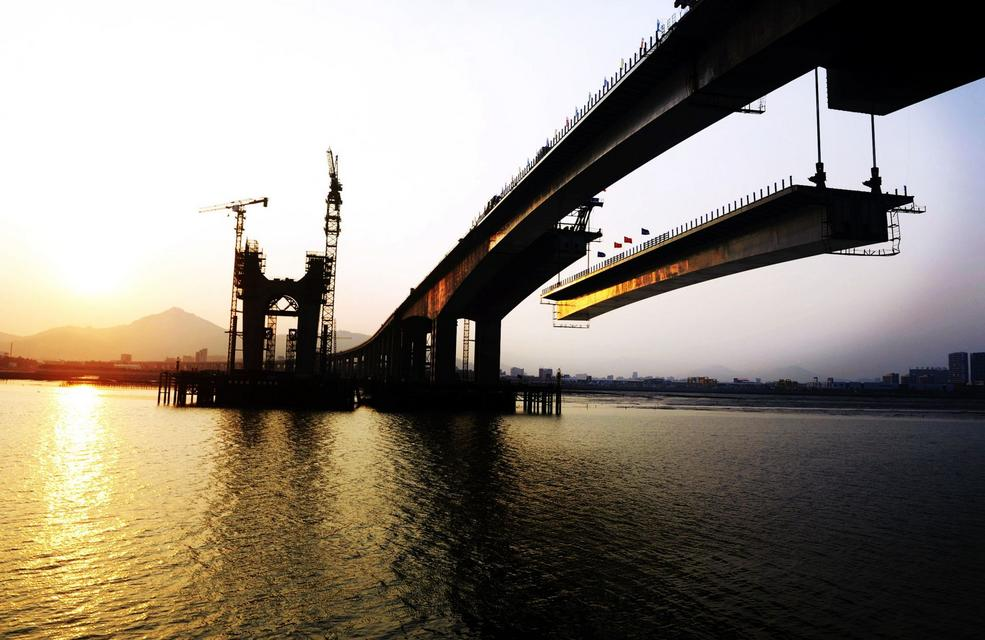 清新福建:成功大桥第2次合拢