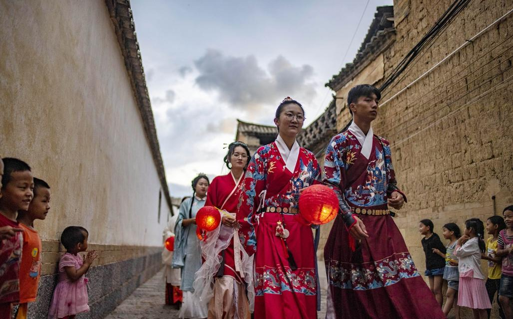 Celebration of Qixi Festival (Chinese Valentine's Day) in Ancient City