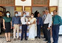 中国金融机构助力斯里兰卡大学抗疫工作