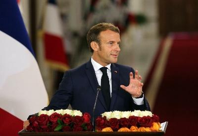 马克龙表示法国愿与伊拉克加强反恐合作