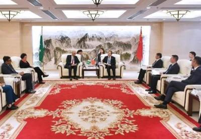 蓝迪国际智库与巴基斯坦驻华大使一行共同调研武汉葛洲坝集团总部