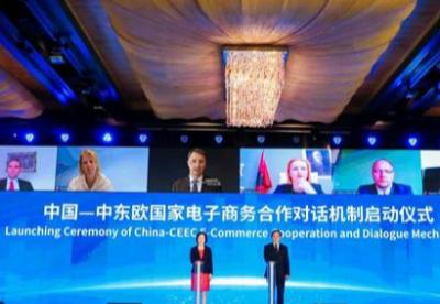 """中国-中东欧国家""""丝路电商""""发展高峰论坛在宁波举行"""
