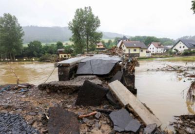 【见·闻】德国西部洪灾区企业复产需数月 基础设施重建需数年