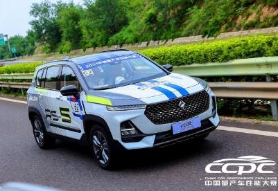 完美驾控表现,宝骏RS-5实力征战2021CCPC公众站SUV组第二赛段