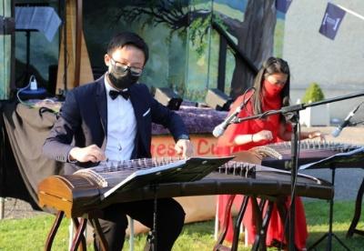"""""""中国文化路演""""户外音乐表演活动在爱尔兰举行"""