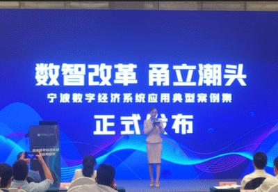《宁波数字经济系统应用典型案例集》在宁波发布